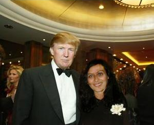 iris gillon with donald trump
